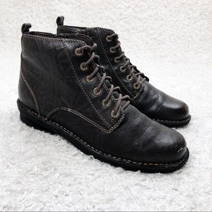 Clarks Brown Lace Up Boots